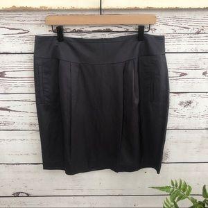 Banana Republic Gray Pleated Pencil Skirt Pockets